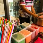 Bloggers and guests were treated with cotton candies!! | Mio Gelati in Ayala Malls Vertis North