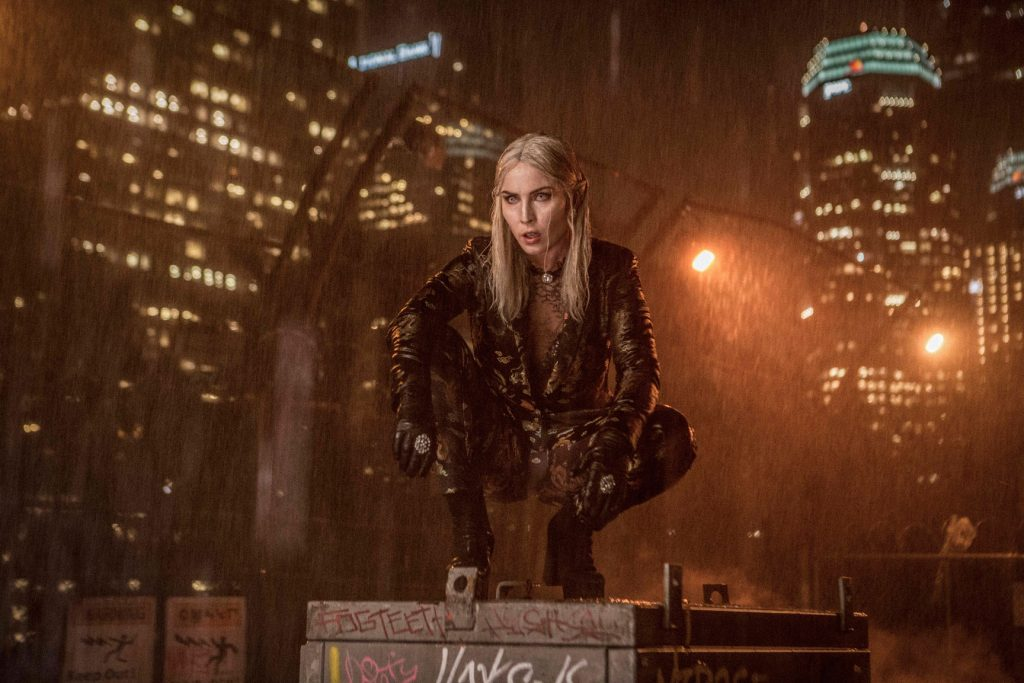Noomi Rapace as Leilah Joel Edgerton as Officer Nick Jakoby in Netflix's Bright | Photo: Netflix
