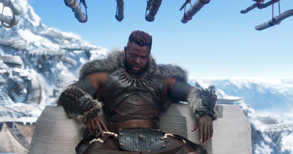 Marvel Studios' BLACK PANTHER. Center: M'Baku (Winston Duke). Ph: Film Frame. ©Marvel Studios 2018   Credit: Marvel Studios