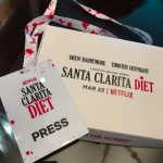 The Little Binger and a friend for the exclusive press junker for Santa Clarita Diet 2.