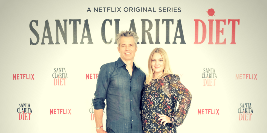 Timothy Olyphant and Drew Barrymore during the exclusive press junket for Santa Clarita Diet 2 in Fairmont Makati