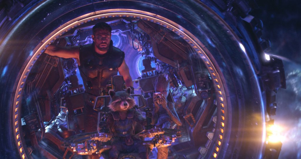 Thor, Rocket Raccoon, and Groot teams up in Avengers Infinity War. | Credit: Marvel Studios