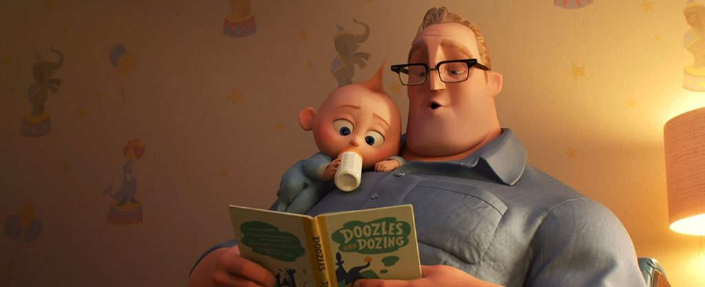 Mr. Incredible takes the backseat in The Incredibles 2.