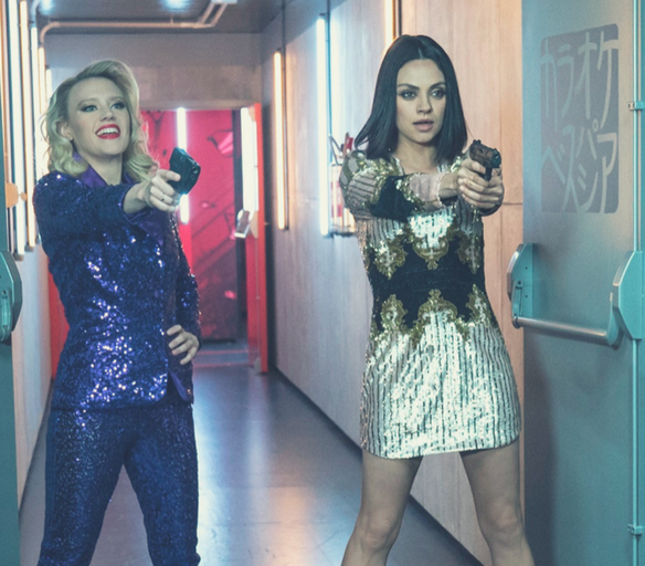 """Kate McKinnon as """"Morgan"""" and Mila Kunis as """"Aubrey"""" in THE SPY WHO DUMPED ME.   Credit: Pioneer Films"""