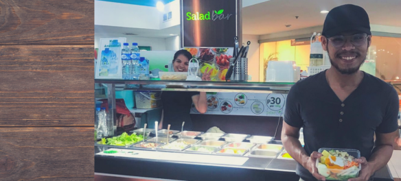 Who said salads are boring? Have fruits with your veggies at Salad Bar!