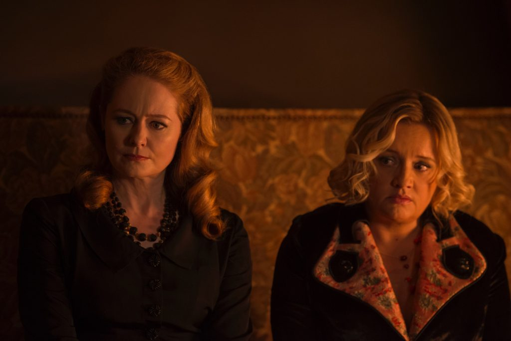 Aunts Zelda and Hilda got an edgy makeover in CHILLING ADVENTURES OF SABRINA | Credit: Netflix