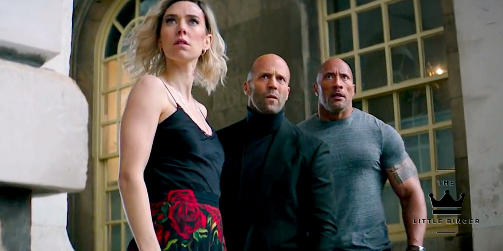 Jason Statham, Vanessa Kirby, and Dwayne Johnson rock in Fast & Furious: Hobbs and Shaw   The Little Binger   Credit: United International Pictures