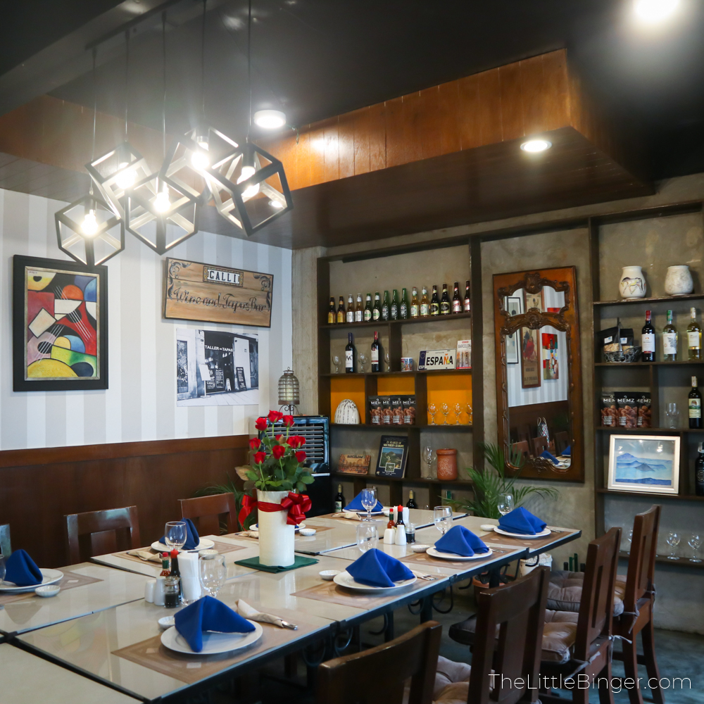 Experience an intimate dining experience at Galli Spanish Restaurant in Tagaytay.   The Little Binger