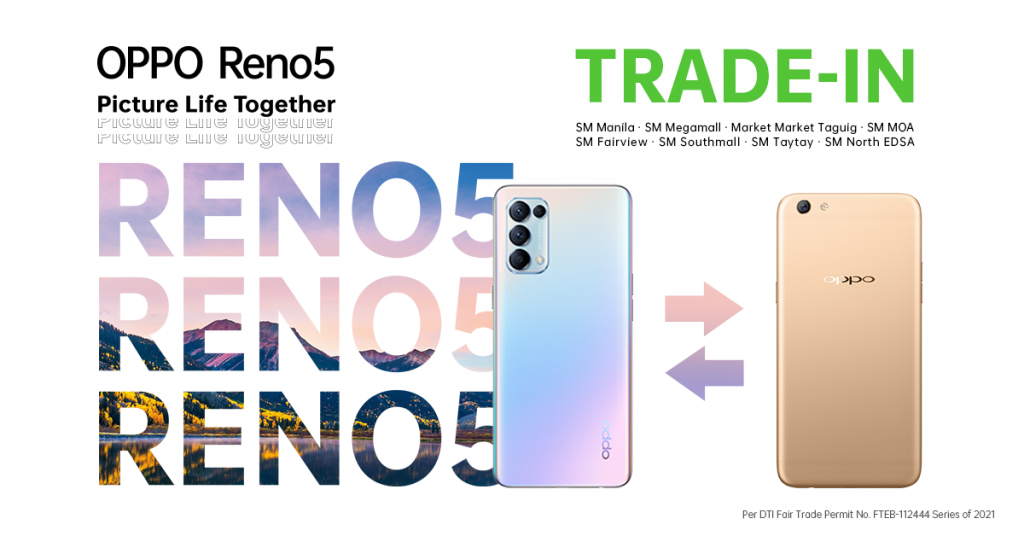 LOOK: Trade Your OPPO F Series to the New OPPO Reno5 4G