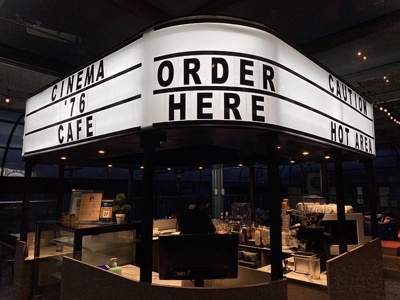 facade cinema 76 cafe