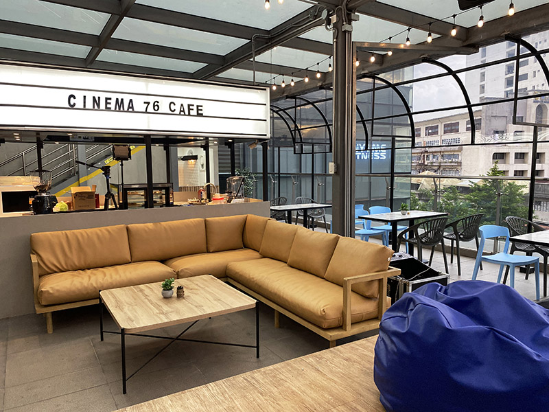 Relax at this cozy interior. | Cinema '76 Cafe: Coffee By The Movies | The Little Binger